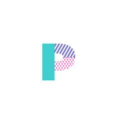 p geometric letter logo icon design vector image