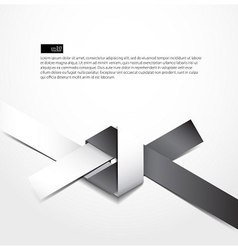 paper origami knot design vector image