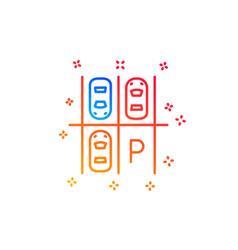 Parking place line icon car park sign vector