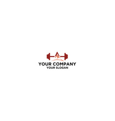 Peak fitness logo design stock vector