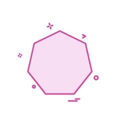 Pentagon icon design vector