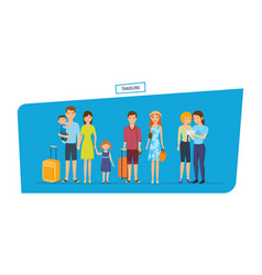 people traveling concept traveling family vector image