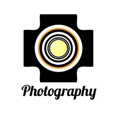 Photo studio or professional photographer logo vector image