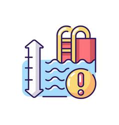 Pool depth rgb color icon vector