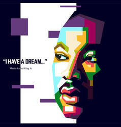 Quote from martin luther king vector