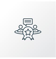 Reputation management icon line symbol premium vector