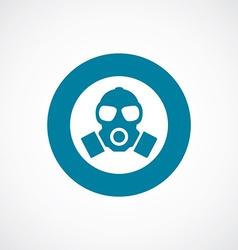 Respirator icon bold blue circle border vector