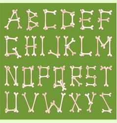 skeleton bones letters vector image