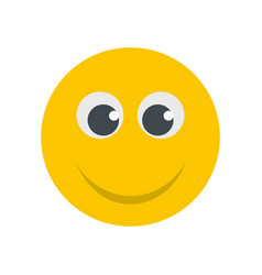 Smile icon flat vector