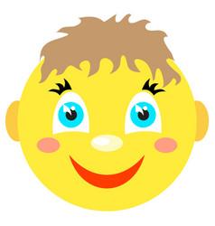 smiley boy smiles vector image vector image