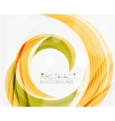 Swirl company logo design vector image