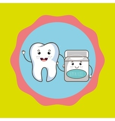 Tooth and mouthwash isolated icon design vector