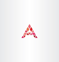 triangle logo red letter a vector image