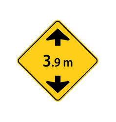 usa traffic road signs maximum truck clearance vector image