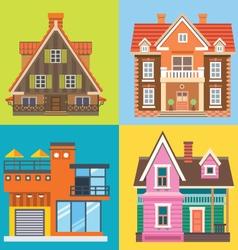 Various buildings house vector