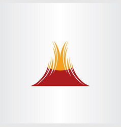 volcano symbol icon design element vector image