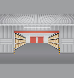 Warehouse background vector