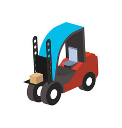 warehouse forklift truck isometric isolated icon vector image