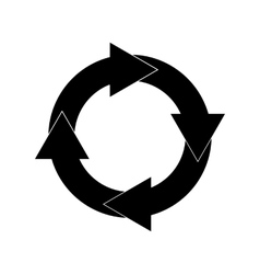 Black Repetitive Arrow icons vector image