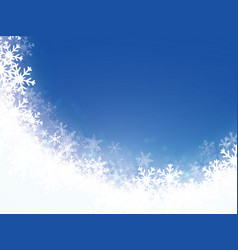 christmas snowflakes light background eps 10 vector image