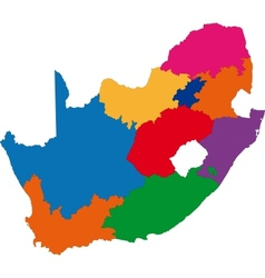 Colorful South Africa map vector image