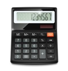 electronic calculator vector image vector image