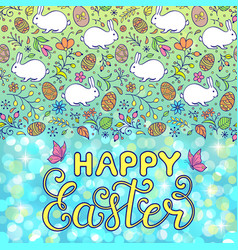 floral easter card vector image