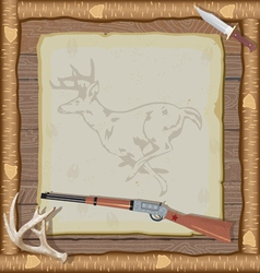 hunting invitation vector image vector image