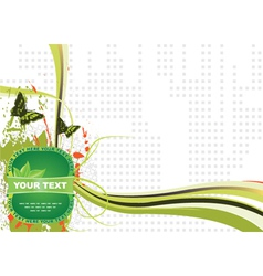 label with abstract background vector image vector image