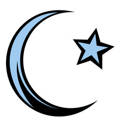 muslim symbol icon cartoon vector image