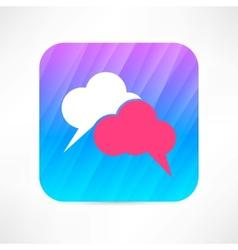 speech cloud icon vector image