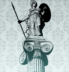 statue of athena vector image