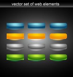 web button set of tweleve vector image