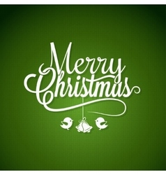 Christmas logo lettering on green background vector