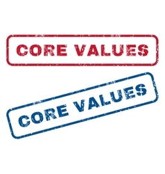 Core values rubber stamps vector