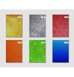 Covers with mosaic texture vector image vector image