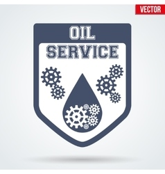 Oil Motor Service Signs and Label vector image vector image