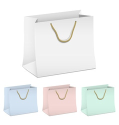 set of empty shopping paper bags vector image vector image