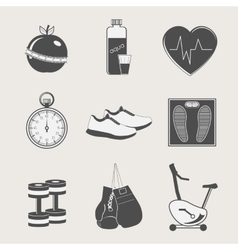 set of sport and fitness vector image vector image