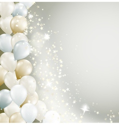 stars and balloons vector image
