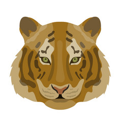 tiger icon in cartoon style isolated on white vector image vector image