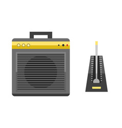 acoustic musical speaker audio equipment musical vector image vector image