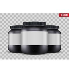Mock-up Background of Sport Nutrition Container vector image
