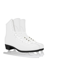 White skates for figure skating vector image