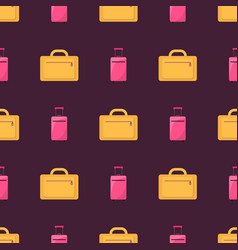 business travelling luggage vector image