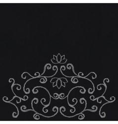 Chalk decorative ornament vector image
