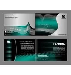 empty bi-fold brochure print template vector image
