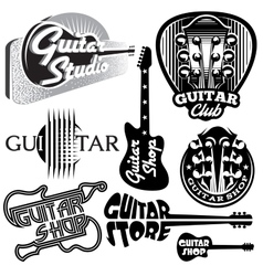 set of monochrome templates for logo on the vector image vector image