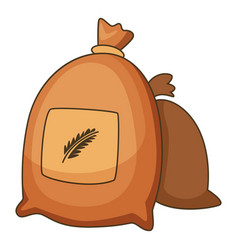 wheat bag icon cartoon style vector image vector image
