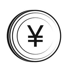 Yen icon simple style vector image